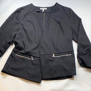 Maurices Black Three Quarter Sleeve Blazer Jacket